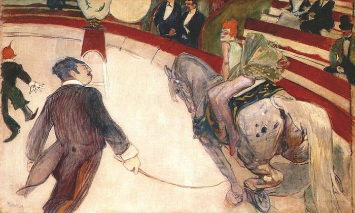 At the Cirque Fernando by Toulouse-Lautrec 1887
